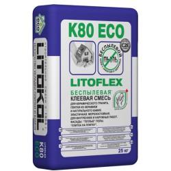 Беспылевая клеевая смесь LITOFLEX K80 ECO 25кг
