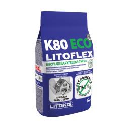 Беспылевая клеевая смесь LITOFLEX K80 ECO 5кг
